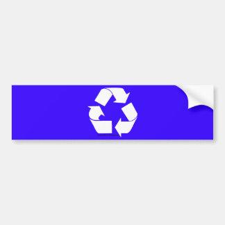 Las etiquetas de la papelera de reciclaje con reci pegatina de parachoque