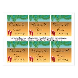 Las etiquetas del favor clasificaron el suyo/el su postales