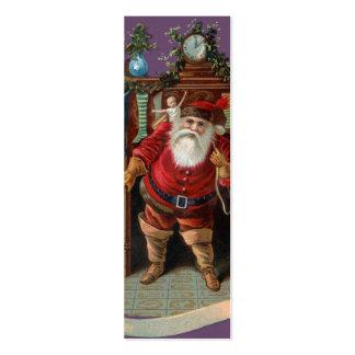 Las etiquetas del regalo de Santa del vintage - Tarjetas De Visita Mini