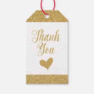 Las etiquetas del regalo del oro que brillan - etiquetas para regalos