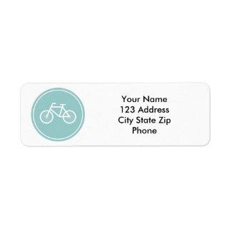 Las etiquetas del remite de la bicicleta para el m