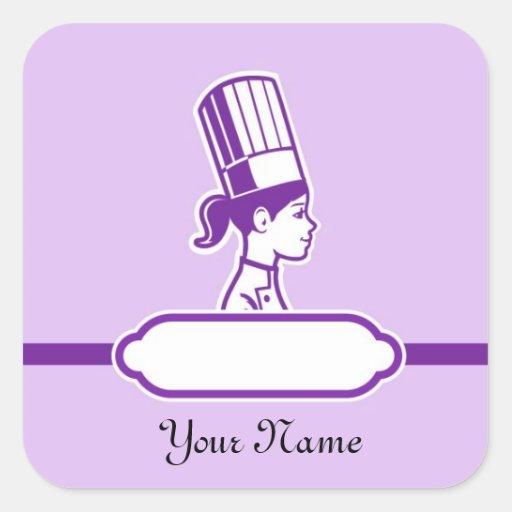 Las etiquetas grandes personalizadas del cocinero