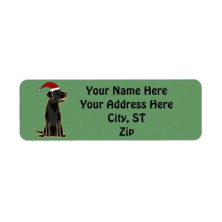 Las etiquetas negras lindas/regalo del navidad de  etiqueta de remite