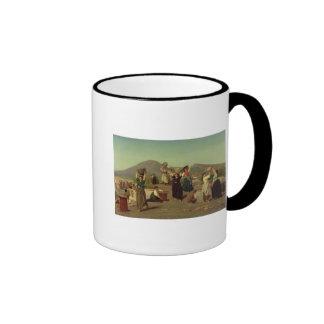Las excavaciones en Pompeya, 1865 Taza De Café
