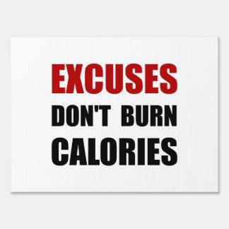 Las excusas no queman calorías señal
