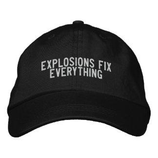 las explosiones fijan todo gorra de beisbol bordada