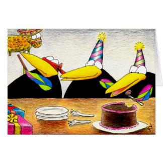Las extremidades de la caloría para el cumpleaños  tarjeta de felicitación