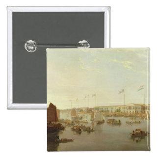Las fábricas europeas, cantón, 1806 (aceite en can pin cuadrada 5 cm