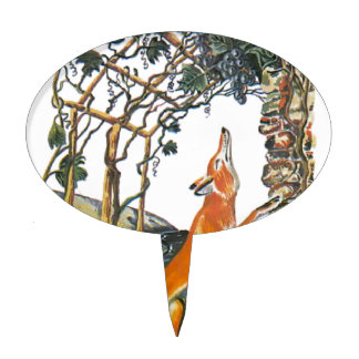 Las fábulas de Esopo el zorro y las uvas Figura De Tarta