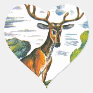 Las fábulas de Esopo los ciervos y su reflexión Calcomania Corazon