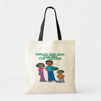 Las familias esas ruedan juntas bolsa tela barata