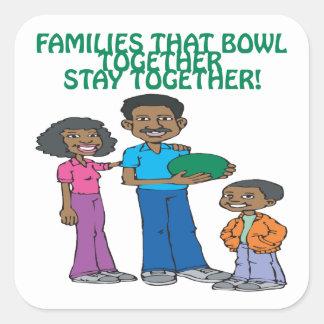 Las familias esas ruedan juntas pegatina cuadrada