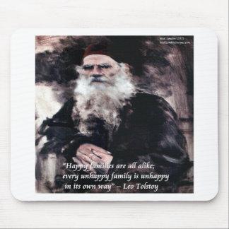 Las familias felices de Tolstoy Ana Karenina citan Alfombrillas De Raton