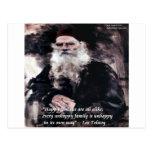 Las familias felices de Tolstoy Ana Karenina citan Postales