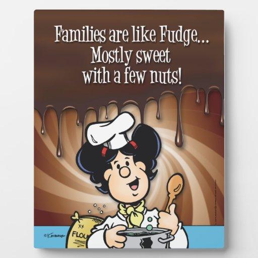 Las familias son como el dulce de azúcar placas de madera