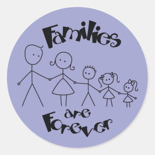 Las familias son Forever Etiquetas Redondas