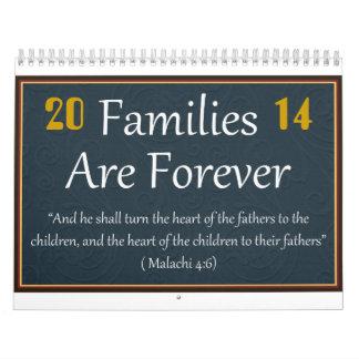 Las familias son para siempre calendario