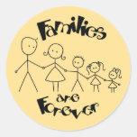 Las familias son para siempre pegatinas