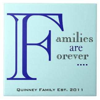 Las familias son para siempre teja de encargo azul