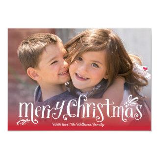 """Las Felices Navidad abrazan la tarjeta de la foto Invitación 5"""" X 7"""""""