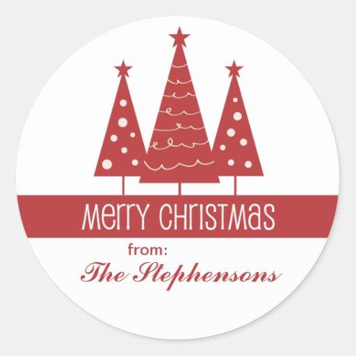 Las Felices Navidad adornaron el saludo de la Pegatina Redonda