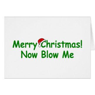 Las Felices Navidad ahora me soplan Tarjetón