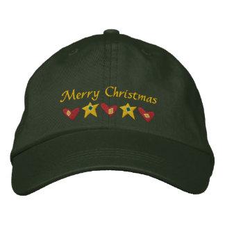 Las Felices Navidad bordaron el gorra Gorra De Beisbol Bordada