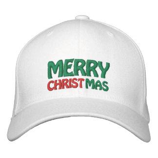 Las Felices Navidad bordaron el gorra Gorras De Beisbol Bordadas