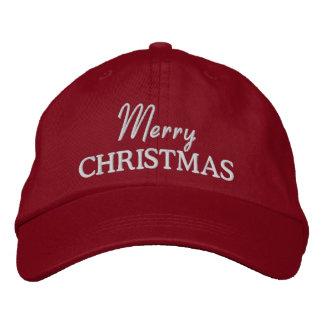 Las Felices Navidad bordaron la gorra de béisbol