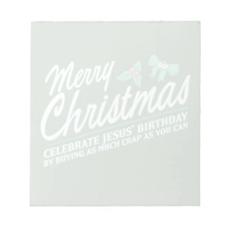 Las Felices Navidad - celebre el cumpleaños de Jes Libretas Para Notas