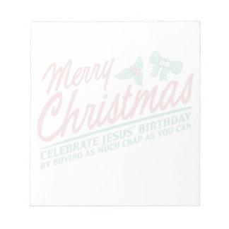 Las Felices Navidad - celebre el cumpleaños de Jes Bloc