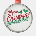 Las Felices Navidad - celebre el cumpleaños de Jes Ornamentos De Reyes