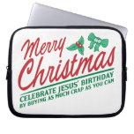 Las Felices Navidad - celebre el cumpleaños de Jes Funda Ordendadores
