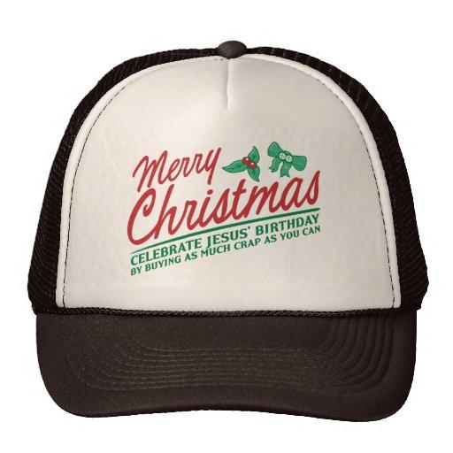 Las Felices Navidad - celebre el cumpleaños de Jes Gorras