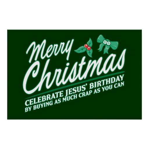 Las Felices Navidad - celebre el cumpleaños de Jes Posters