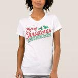 Las Felices Navidad - celebre el cumpleaños de Jes Camisetas