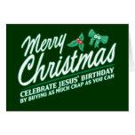 Las Felices Navidad - celebre el cumpleaños de Jes Tarjetas