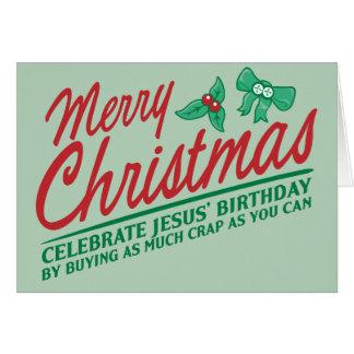 Las Felices Navidad - celebre el cumpleaños de Jes Felicitaciones