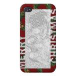 Las Felices Navidad cortaron las guirnaldas del ma iPhone 4/4S Fundas