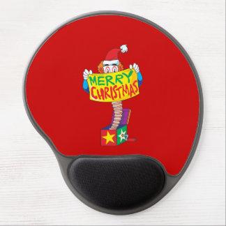 Las Felices Navidad de encargo Jack en una caja Alfombrillas De Ratón Con Gel
