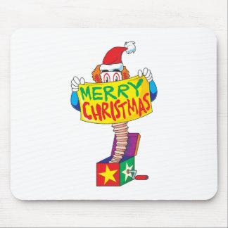 Las Felices Navidad de encargo Jack en una caja Tapete De Ratones