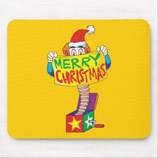 Las Felices Navidad de encargo Jack en una caja Alfombrillas De Raton