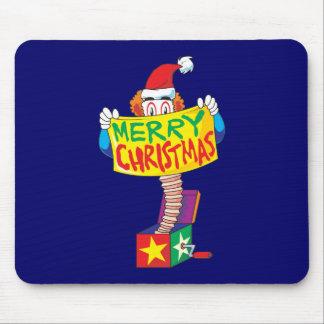 Las Felices Navidad de encargo Jack en una caja Tapetes De Ratones