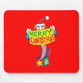 Las Felices Navidad de encargo Jack en una caja Alfombrillas De Ratón