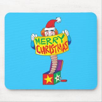 Las Felices Navidad de encargo Jack en una caja Tapetes De Raton