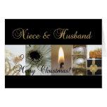 Las Felices Navidad de la sobrina y del marido enn Tarjeton