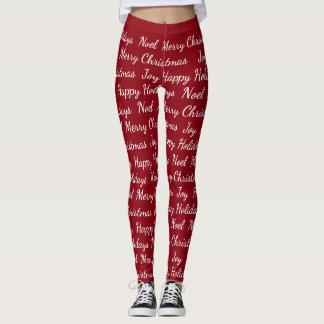 Las Felices Navidad de los días de fiesta imprimen Leggings