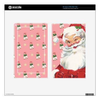 Las Felices Navidad de Papá Noel encienden la piel Kindle Fire Skins