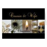 Las Felices Navidad del primo y de la esposa enneg Felicitación