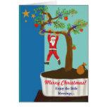 ¡Las Felices Navidad… disfrutan de las pequeñas Tarjeta De Felicitación
